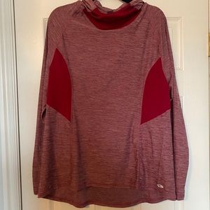 Workout hoodie - red heather